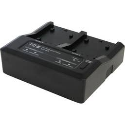 IDX Dual Battery Charger for select Canon, Panasonic and Sony Batteries