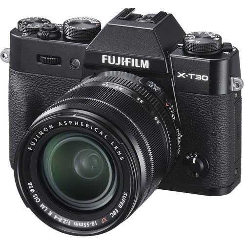Fujifilm X-T30 Body w/ XF 18-55mm - Black
