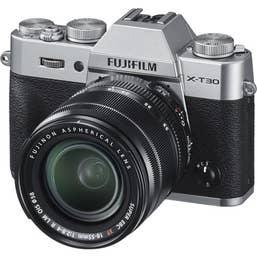 Fujifilm X-T30 Body w/ XF 18-55mm - Silver