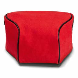 Leica Ettas Pouch Coated Canvas Q2 Red