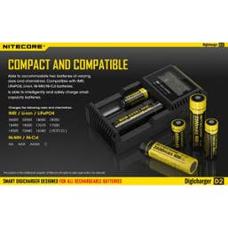 Nitecore Digicharger D2 Dual Battery Charger