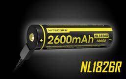 Nitecore 2600mAH Micor USB Rechargeable 18650 Battery