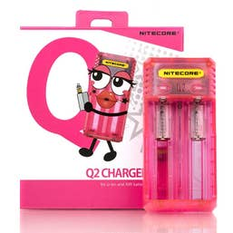 Nitecore Q2 Li-on & IMR 2-Slot Quick Battery Charger - Pink