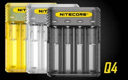 Nitecore Q4 Li-on & IMR 4-Slot Quick Battery Charger - Yellow