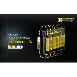Nitecore Q6 Charger Quick Charge 6 Slots