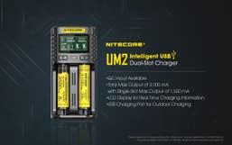 Nitecore UM2 Intelligent 2-Slot Battery USB Smart