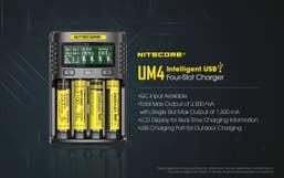 Nitecore UM4 4-Slot Intelligent USB Battery  Charger