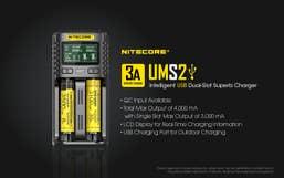 Nitecore UMS2 2-Slot USB Charger