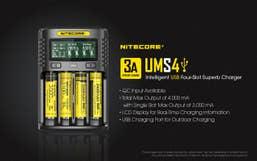 Nitecore UMS4 4-Slot USB Charger