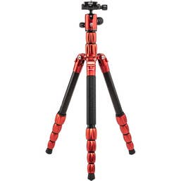 MeFOTO BackPacker S Travel Tripod Carbon Fibre - Red