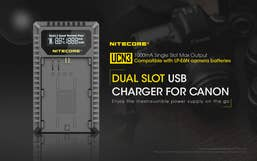 Nitecore UCN3 Canon USB Dual Slot Charger for Canon LP-E6N