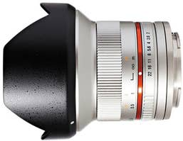 Samyang 12mm F2.0 UMC II Canon M APS-C - Silver Lens