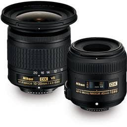 Nikon Landscape Micro Kit with 10-20mm G VR and Micro 40mm F2.8G Kit