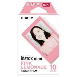 Fujifilm instax mini Pink Lemonade Film 10 Pack Suitable for instax mini Cameras