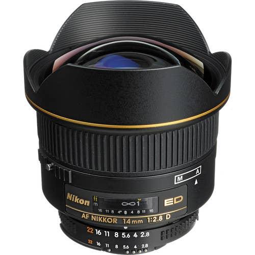 Nikon AF 14mm f/2.8D ED Lens (Ex-Display)