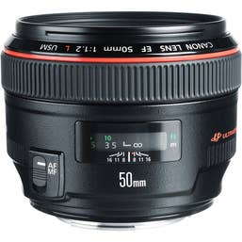 Canon EF 50mm f/1.2L USM Lens - Professional Low Light Lens