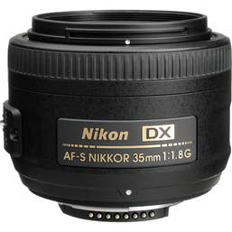 Nikon AF-S DX 35mm F1.8G Camera Lens   (JAA132DA)