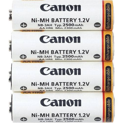 Canon NB4300 AA NiMH (2500mAh) Rechargeable Batteries (4-pack)