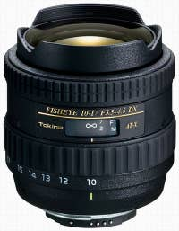 Tokina AT-X 10-17mm f3.5-4.5 DX Fisheye Lens - Canon Mount