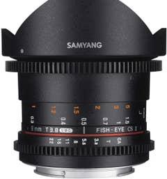 Samyang 8mm T3.8 Fisheye EOS APS-C CINE Lens