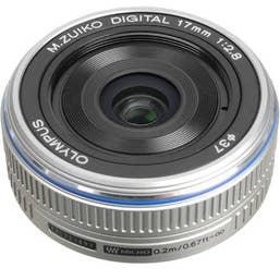 Olympus M.Zuiko Digital 17mm f/2.8 Lens (silver)