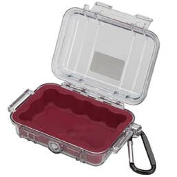 Pelican 1010 Micro Case - Clear with Red Liner  (1010CWR)