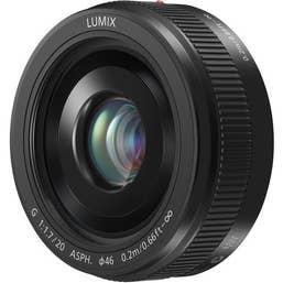 Panasonic LUMIX G 20mm f/1.7 II ASPH. Lens - Black (H-H020AE-K)