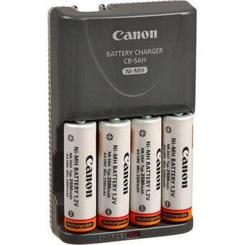 Canon CBK4-300 4-pack AA Ni-MH 2500mAh Batteries and Charger Kit
