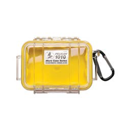 Pelican 1010 Micro Case - Clear with Yellow Liner  ( 1010CWY )