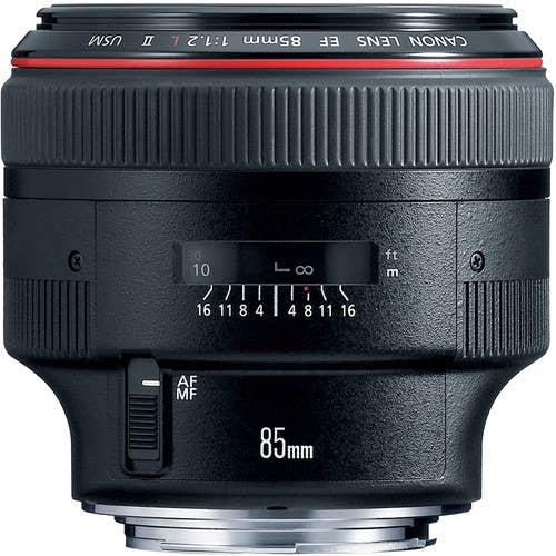 Canon EF 85mm f/1.2L II USM Camera Lens