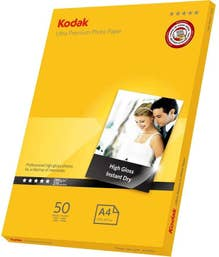 Kodak 180GSM 20 Sheets Gloss Instant Dry 180gsm A4 Photo Paper