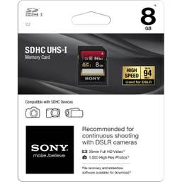 Sony 8GB SDHC Memory Card Class 10 UHS-I 94Mb/s