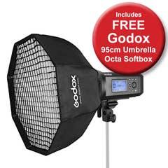 Godox AD600Pro TTL Lithium Ion Flash with Bonus Godox 95cm Umbrella Octa Softbox