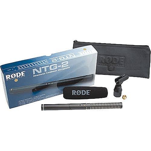 Rode NTG-2 Condenser Shotgun Microphone  (1-RODNTG2)