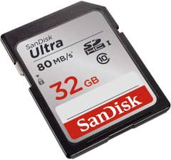 SanDisk 32GB Ultra SDHC 80MB/s Class 10 UHS-I Memory Card