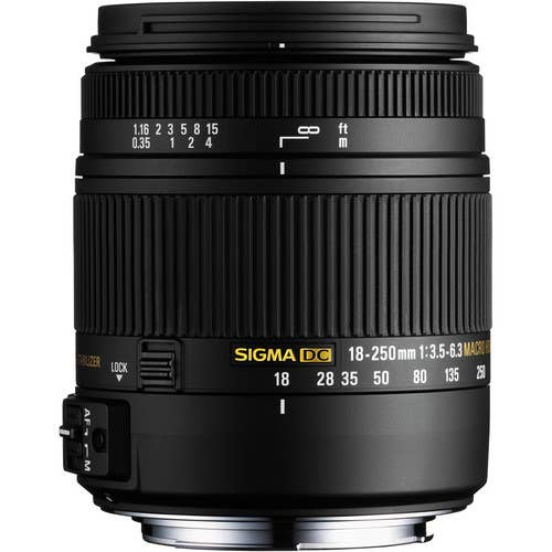 Sigma 18-250mm f/3.5-6.3 Macro OS HSM Lens for Nikon