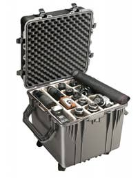 Pelican 350 Cube Case with Padded Dividers