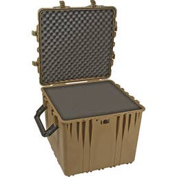Pelican 370 Cube Case with Foam - Desert Tan