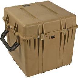 Pelican 370 Cube Case without Foam - Desert Tan
