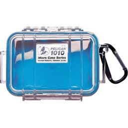 Pelican 1010 Micro Case - Clear Lid with Blue Liner ( 1010CWBL )