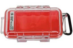 Pelican 1015 Micro Case - Clear with Red Liner
