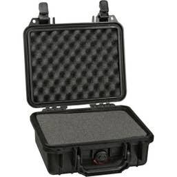 Pelican 1300 Case with Foam - Black    ( 1300B )