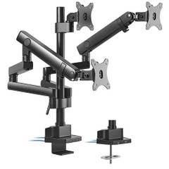 "Brateck Triple Monitor Aluminum Slim Pole Held Mechanical Spring Arm 17""-27"""