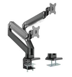 "Brateck Dual Monitors Aluminum Heavy-Duty Gas Spring Arm 17""-35"""