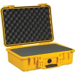 Pelican 1500 Case with Foam - Yellow