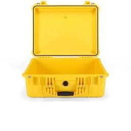 Pelican 1550 Case without Foam - Yellow   (1550YNF)