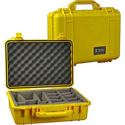Pelican 1550 Case with Padded Dividers - Yellow