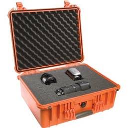Pelican 1600 Case with Foam - Orange