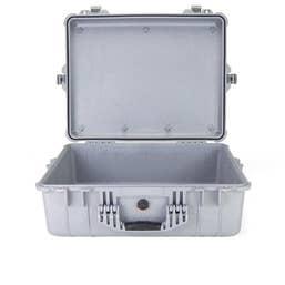 Pelican 1600 Case without Foam - Silver