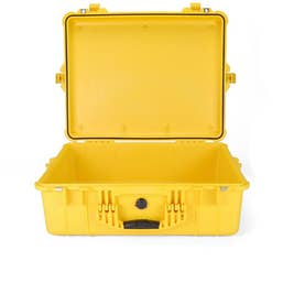 Pelican 1600 Case without Foam - Yellow